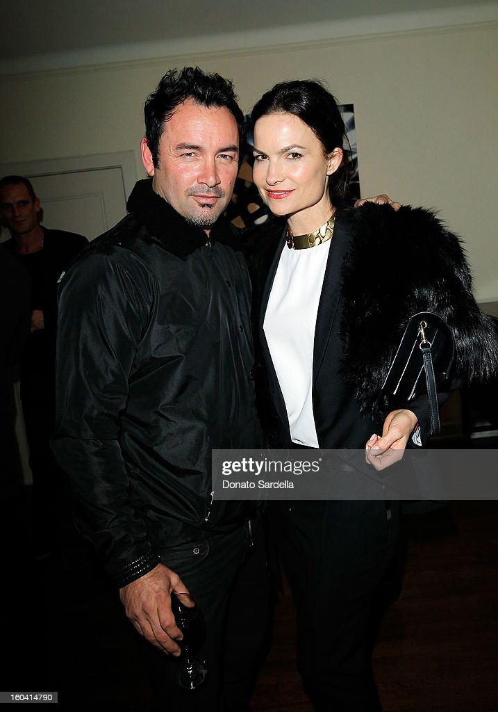 Designer Robert Keith of Hoorsenbuh and host Rosetta Getty attend Hoorsenbuhs for Forevermark Collection cocktail party at Chateau Marmont on January 30, 2013 in Los Angeles, California.
