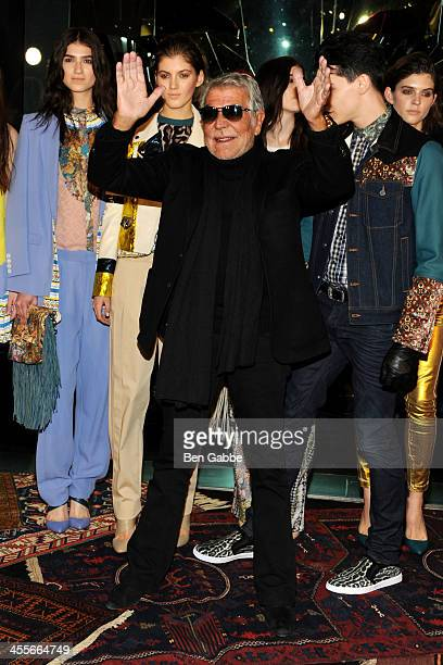 Designer Roberto Cavalli attends the Just Cavalli Soho Flagship store opening at Just Cavalli Soho on December 12 2013 in New York City