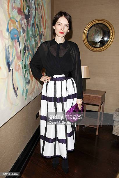 Designer Roksanda Ilincic attends a cocktail party hosted by new EditorinChief of Harper's Bazaar UK Justine Picardie Manolo Blahnik and Penelope...