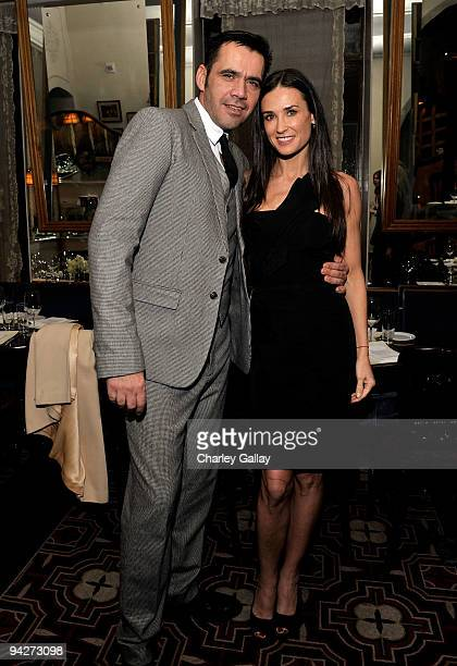 **EXCLUSIVE** Designer Roland Mouret and actress Demi Moore attend Roland Mouret's Rainbow Collection launch for NETAPORTER held at Chateau Marmont...