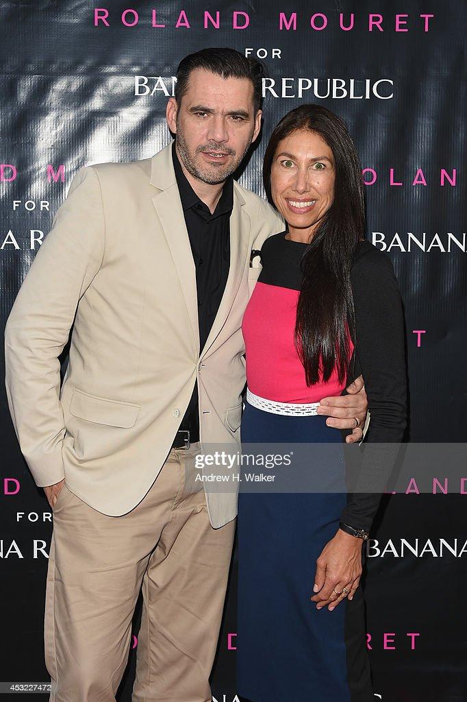 Designer Roland Mouret and Vice President of Women's Design for Banana Republic Melloney Birkett attend the Roland Mouret for BananaRepublic...