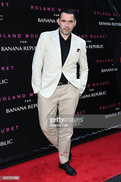Designer Roland Mouret attends Roland Mouret for Banana Republic collection launch celebration at White Street Restaurant on August 5 2014 in New...