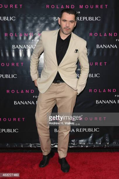 Designer Roland Mouret attends the Roland Mouret for Banana Republic Collection Launch on August 5 2014 at White Street Restaurant in New York City