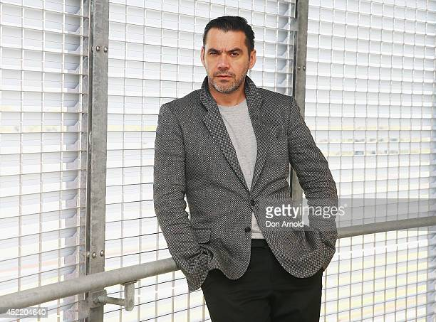 Designer Roland Mouret poses during the International Australian Regional Award Woolmark Prize event at The Stables at Randwick Racecourse on July 16...