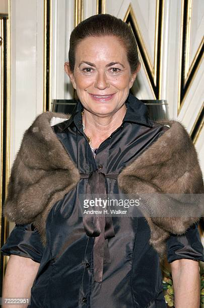 Designer Rossella Jardini attends a Moschino dinner at Bergdorf Goodman hosted by Alexis Bryan Nina Garcia Ginnifer Goodwin and Mary Alice...