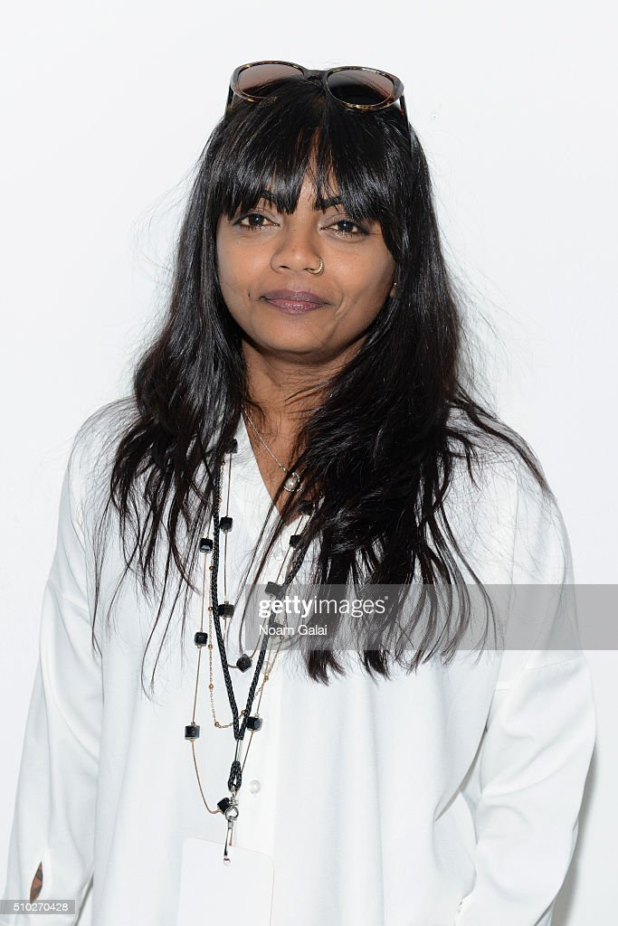 Designer Runa Ray poses at the Runa Ray Presentation for Fall 2016 during New York Fashion Week: The Shows at The Space, Skylight at Clarkson Sq on February 14, 2016 in New York City.