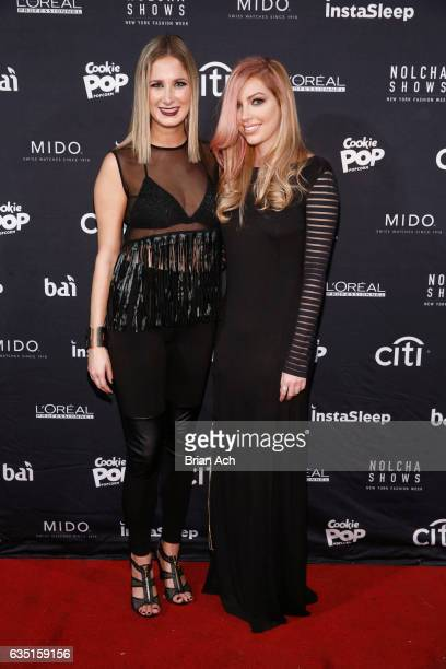 Designer Samantha Leibowitz and singer Dalal attend Nolcha Shows Runway New York Fashion Week Fall Winter 2017 at ArtBeam on February 13 2017 in New...
