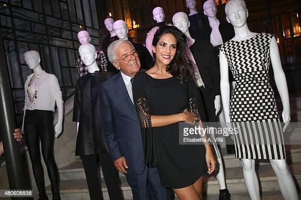 Designer Sandro Ferrone and actress Rocio Munoz Morales attend Sandro Ferrone F/W 2015/16 Collection Presentation as part of AltaRoma AltaModa...
