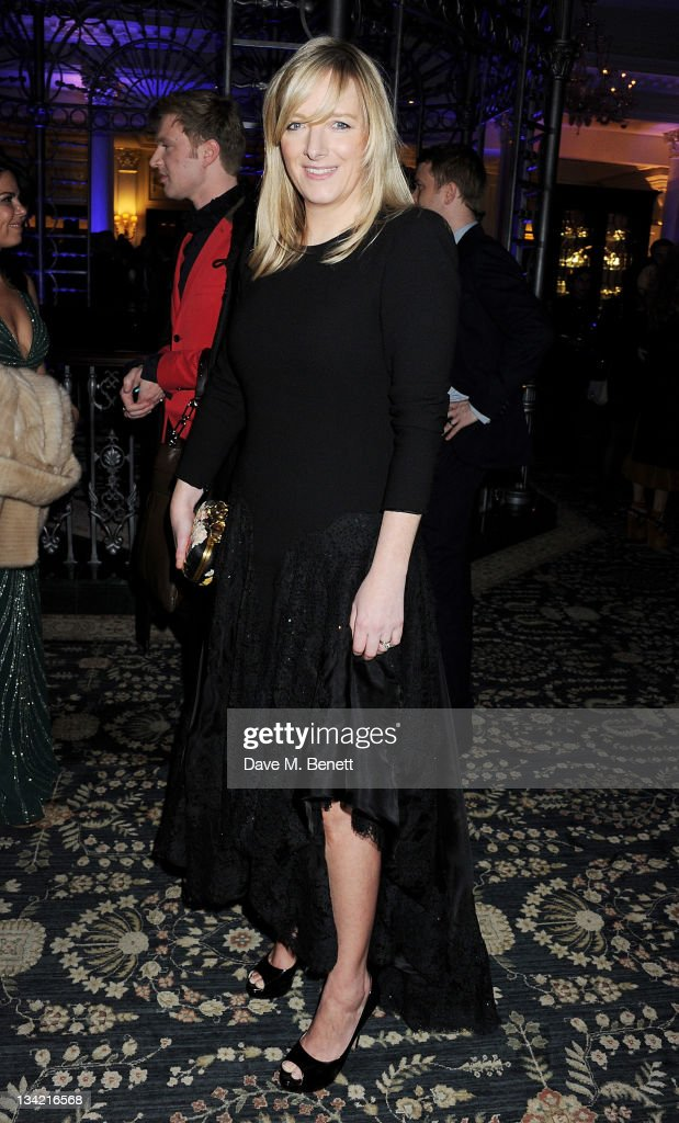 Designer <a gi-track='captionPersonalityLinkClicked' href=/galleries/search?phrase=Sarah+Burton&family=editorial&specificpeople=6735119 ng-click='$event.stopPropagation()'>Sarah Burton</a> attends a drinks reception at the British Fashion Awards 2011 held at The Savoy Hotel on November 28, 2011 in London, England.