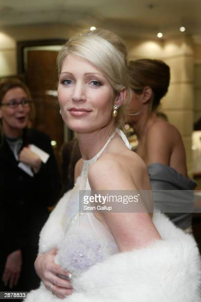 Designer Sarah Kern attends the German Film Ball at the Bayerischer Hof January 17 2004 in Munich Germany