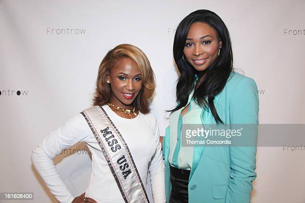 Designer Shateria Moragne and Kamie Crawford attends FrontRow By Shateria Moragneel Fashion Show at STYLE360 presented by Conair Fashion Pavilion on...