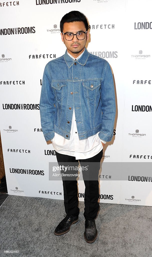 Designer Shaun Samson attends the British Fashion Council's International Showcasing Initiative 'London Show Rooms LA' at Thompson Hotel on April 9, 2013 in Beverly Hills, California.