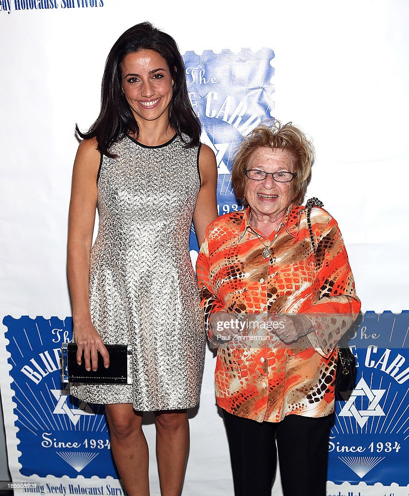 Designer Shoshana Lonstein Gruss (L) and Dr. Ruth K. Westheimer attend the 79th annual Blue Card Benefit gala at American Museum of Natural History on October 21, 2013 in New York City.