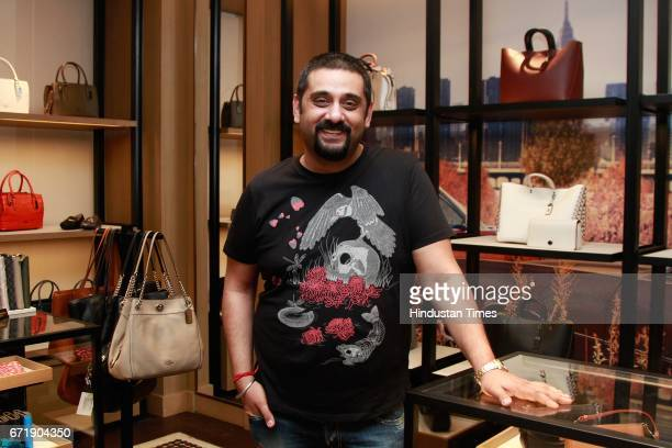 Designer Siddartha Tytler during the launch of iconic New York design label 'Coach' store at DLF Emporio Vasant Kunj on April 20 2017 in New Delhi...