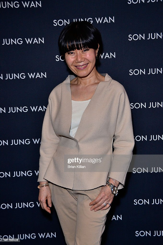 Designer Son Jung Wan attends Son Jung Wan during Fall 2013 Mercedes-Benz Fashion Week at The Studio at Lincoln Center on February 9, 2013 in New York City.