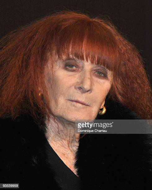 Designer Sonia Rykiel attends Sonia Rykiel and HM underwear collection launch at Grand Palais on December 1 2009 in Paris France