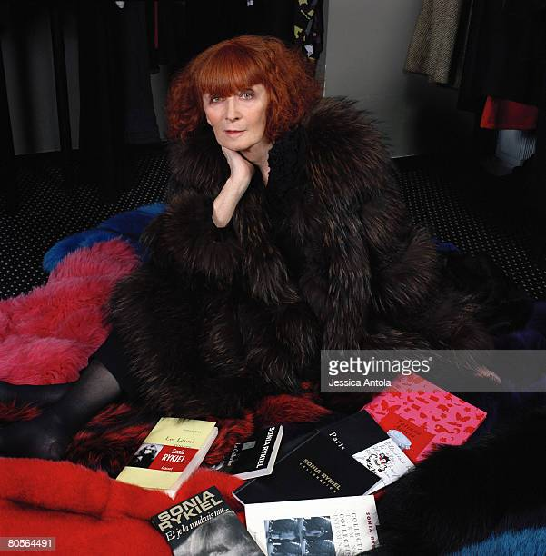 Designer Sonia Rykiel is photographed above her St Germain boutique