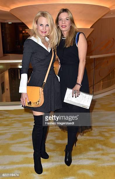 Designer Sonja Kiefer and Friederike Quast during the presantation of Friederike Quast New Fall/Winter 2016/17 handbag collection at Hotel Mandarin...