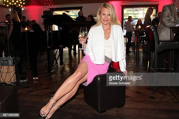 Designer Sonja Kiefer attends the Wempe Piano Night at Gruenwalder Einkehr on April 30 2014 in Munich Germany