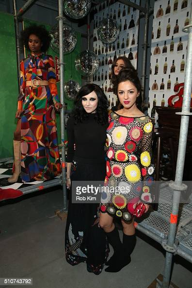 Designer Stacey Bendet and actress Annet Mahendru attend the alice olivia by Stacey Bendet Fall 2016 presentation at The Gallery Skylight at Clarkson...