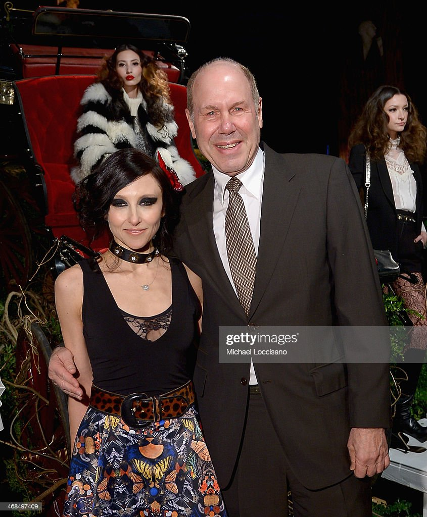 Designer <a gi-track='captionPersonalityLinkClicked' href=/galleries/search?phrase=Stacey+Bendet&family=editorial&specificpeople=821847 ng-click='$event.stopPropagation()'>Stacey Bendet</a> and former CEO of Walt Disney <a gi-track='captionPersonalityLinkClicked' href=/galleries/search?phrase=Michael+Eisner&family=editorial&specificpeople=202007 ng-click='$event.stopPropagation()'>Michael Eisner</a> attend the alice + olivia by <a gi-track='captionPersonalityLinkClicked' href=/galleries/search?phrase=Stacey+Bendet&family=editorial&specificpeople=821847 ng-click='$event.stopPropagation()'>Stacey Bendet</a> Fall 2014 presentation during Mercedes-Benz Fashion Week Fall 2014 at The McKittrick Hotel on February 10, 2014 in New York City.