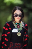 Designer Stacey Bendet Eisner attends the Allen Company Sun Valley Conference on July 10 2014 in Sun Valley Idaho Many of the worlds wealthiest and...