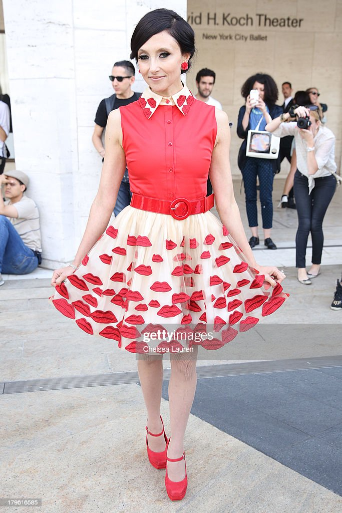 Designer Stacey Bendet of Alice + Olivia is seen on the Streets of Manhattan on September 5, 2013 in New York City.