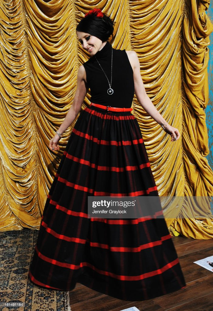Designer Stacey Bendet poses at the Alice + Olivia By Stacey Bendet Fall 2013 fashion show presentation during Mercedes-Benz Fashion Week at Highline Stages on February 11, 2013 in New York City.