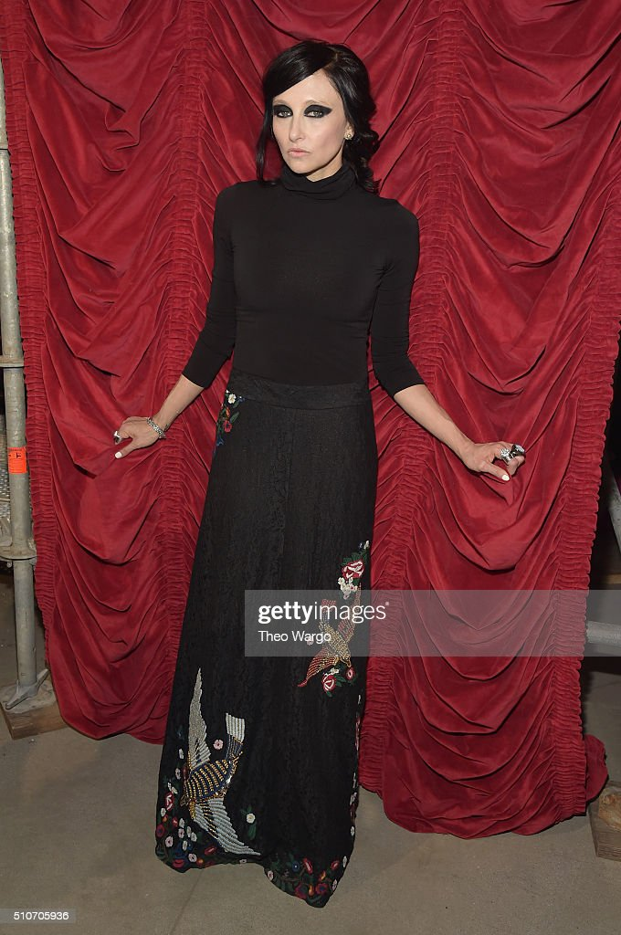 Designer Stacey Bendet poses at the alice + olivia by Stacey Bendet Fall 2016 presentation at The Gallery, Skylight at Clarkson Sq on February 16, 2016 in New York City.