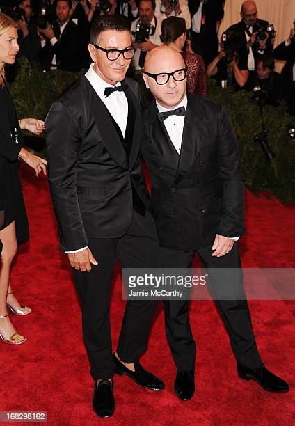 Designer Stefano Gabbana and designer Domenico Dolce attend the Costume Institute Gala for the 'PUNK Chaos to Couture' exhibition at the Metropolitan...