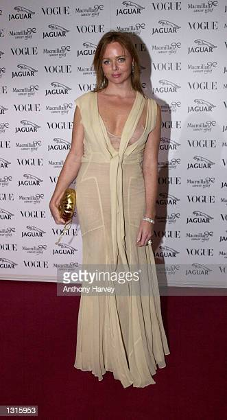Designer Stella McCartney arrives at the Vogue Jaguar 'It''s Fashion' charity gala June 11 2001 on the grounds of Waddesdon Manor in Buckinghamshire...