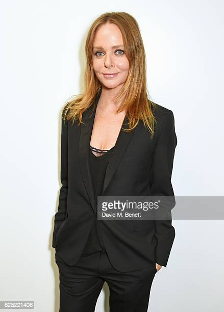 Designer Stella McCartney attends the 2016 Kering Talk at the London College of Fashion on November 14 2016 in London England
