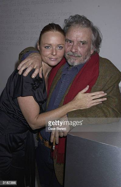 Designer Stella McCartney with photographer David Bailey at the 'Unseen Vogue' exhibition that was presented in association with L'Oreal on 31st...