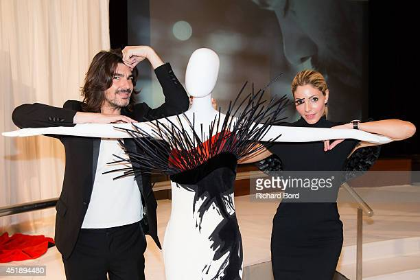 Designer Stephane Rolland and Natalie Tabbara attend the Stephane Rolland show as part of the Paris Fashion Week Haute Couture Fall/Winter 20142015...
