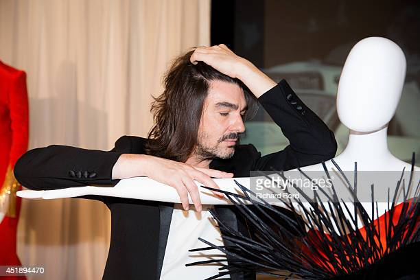 Designer Stephane Rolland attends the Stephane Rolland show as part of the Paris Fashion Week Haute Couture Fall/Winter 20142015 at Cinema Elysee...