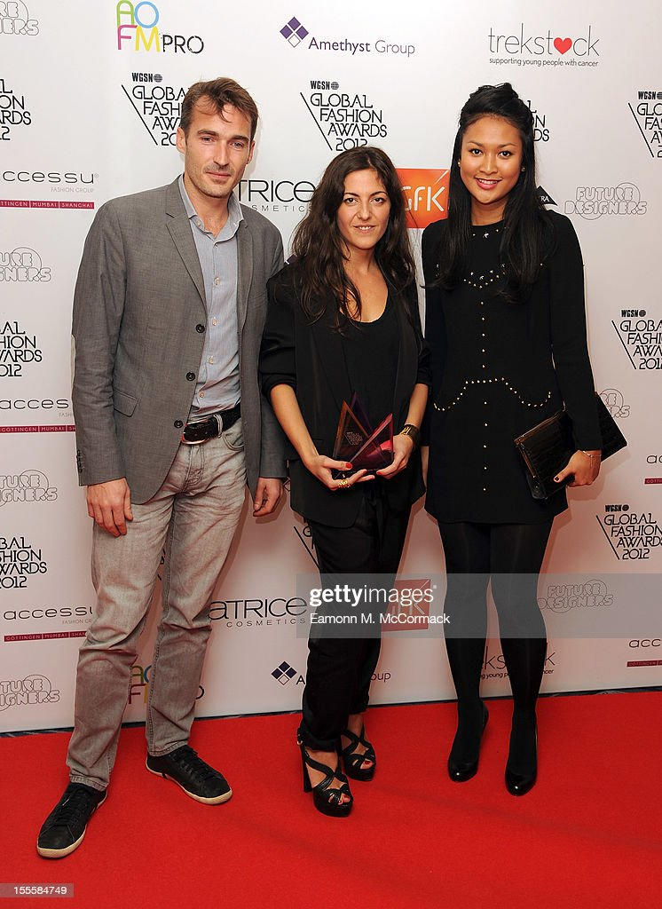 Designer Stephanie Cohen (C) of Merci with her Buying Team multi-brand retailer and e-tailer award during the WGSN Global Fashion Awards at The Savoy Hotel on November 5, 2012 in London, England.