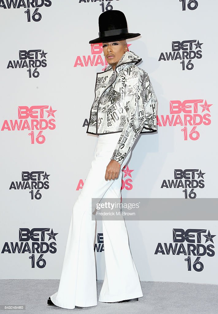 Designer Stephon Mendoza poses in the press room during the 2016 BET Awards at the Microsoft Theater on June 26, 2016 in Los Angeles, California.