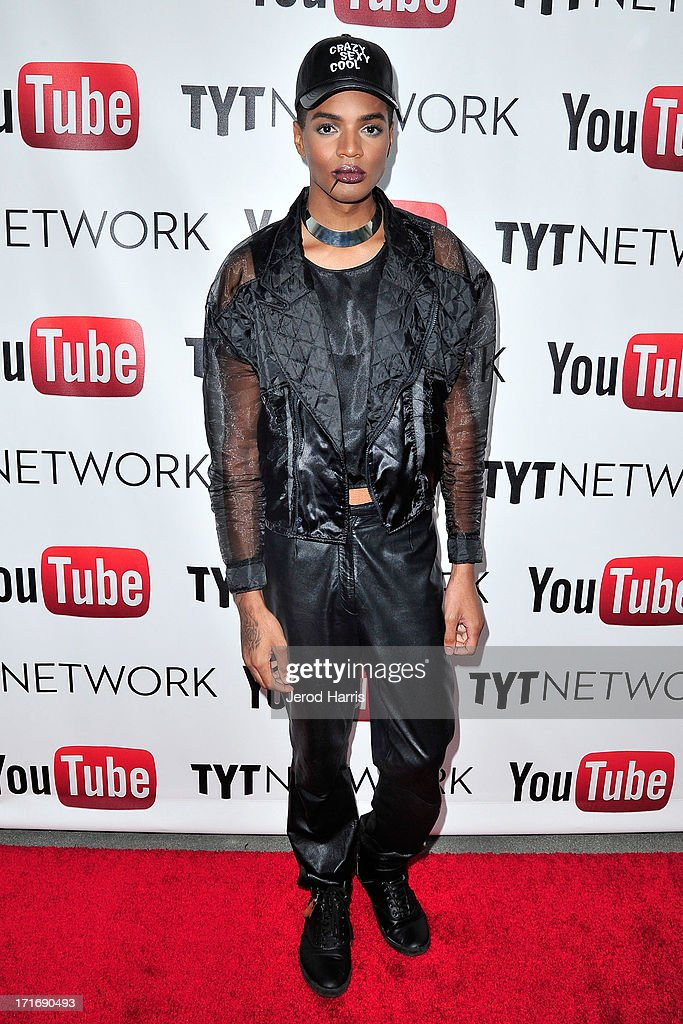 Designer Stevie Boi arrives at YouTube and TYT Network Present the 1st Annual YouTube PRIDE Party Hosted By Dave Rubin at YouTube Space LA on June 27, 2013 in Los Angeles, California.