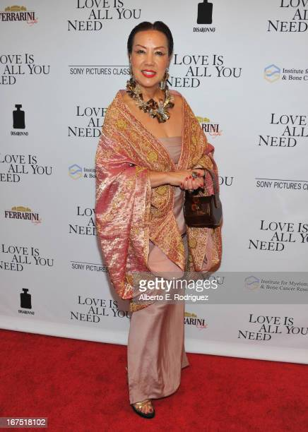 Designer Sue Wong arrives to the premiere of Sony Pictures Classics' 'Love Is All You Need' at Linwood Dunn Theater at the Pickford Center for Motion...