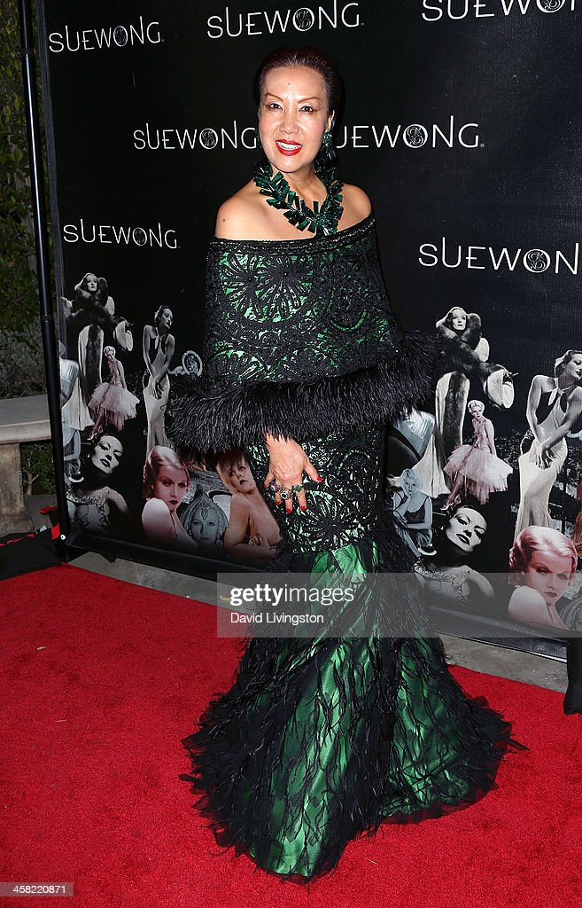 Designer Sue Wong attends her holiday party at her home on December 20, 2013 in Los Angeles, California.