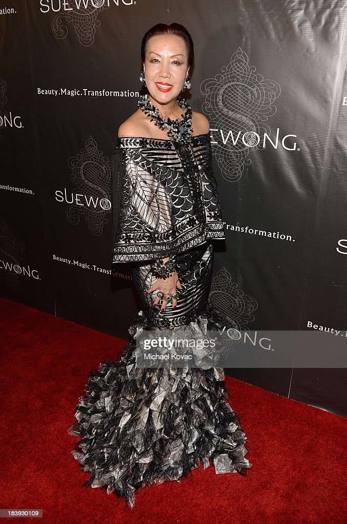 Designer Sue Wong attends Sue Wong 'Jazz Babies' Spring 2014 Runway Show on October 9, 2013 in Los Angeles, California.