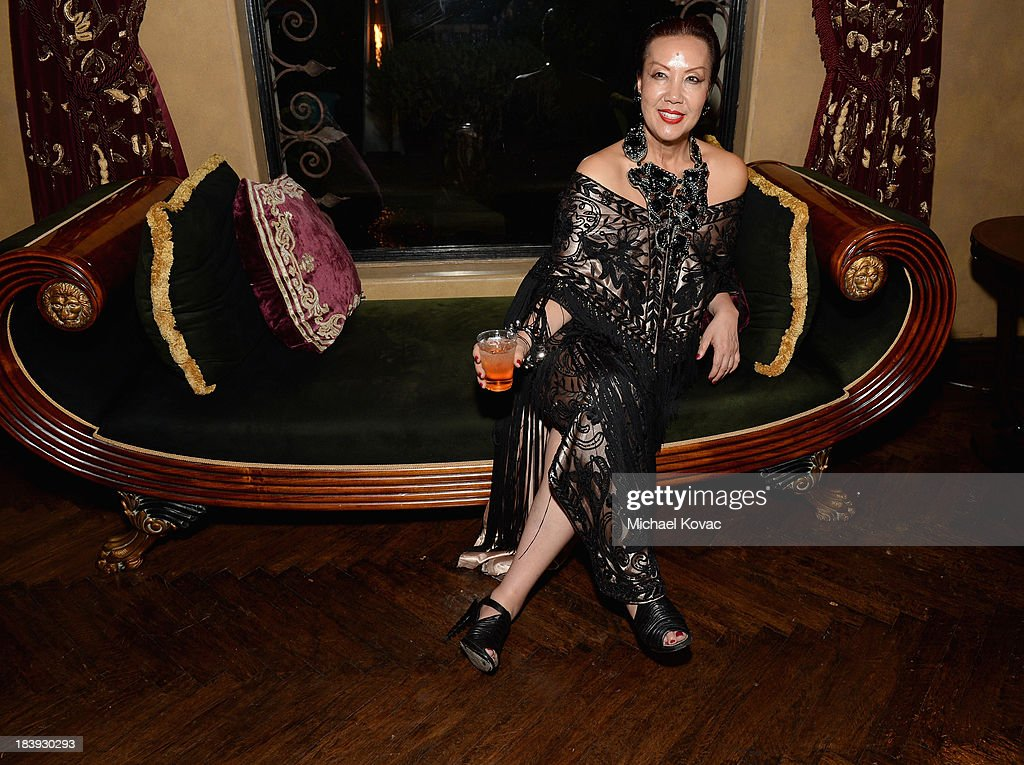 Designer Sue Wong attends Sue Wong 'Jazz Babies' Spring 2014 Runway Show after party on October 9, 2013 in Los Angeles, California.