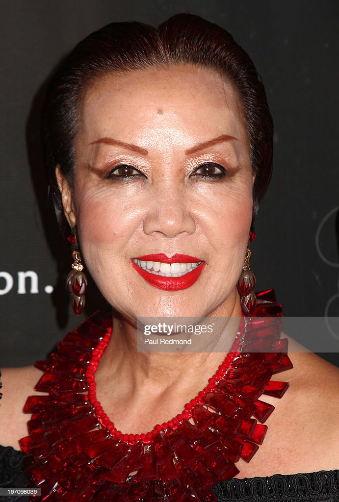 Designer Sue Wong attends Sue Wong's Great Gatsby Fall 2013 Collection on April 19, 2013 in Los Angeles, California.