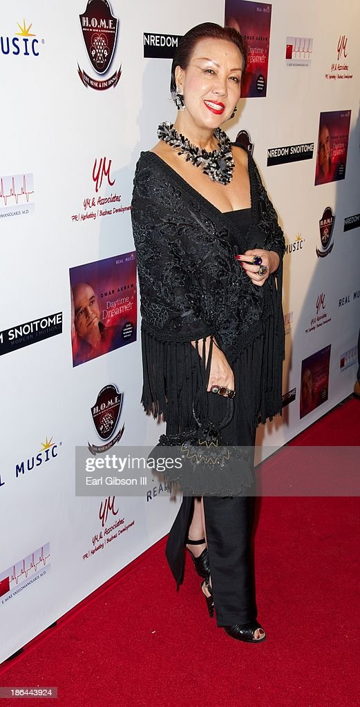 Designer Sue Wong attends the Album Release Party for 2013 Grammy Award Winner Omar Akram at House of Music & Entertainment on October 30, 2013 in Beverly Hills, California.