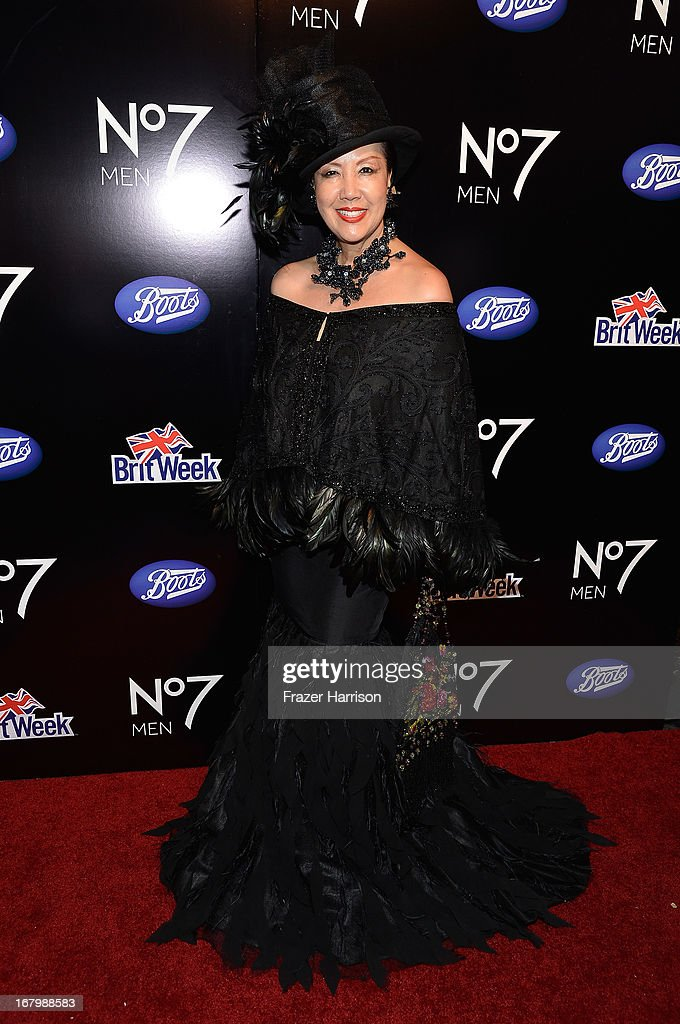 Designer Sue Wong attends the Boots Not Men Launch at Britweek 2013 at The Fairmont Miramar Hotel on May 3, 2013 in Santa Monica, California.