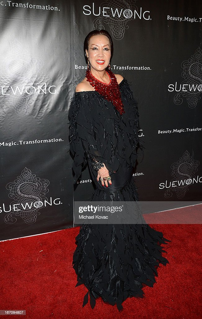 Designer Sue Wong attends the Sue Wong Fall 2013 Great Gatsby Collection Unveiling and Birthday Celebration on April 19, 2013 in Los Angeles, California.