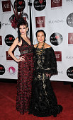 Designer Sue Wong with models attend the Art Hearts Fashion Opening Night with Sue Wong's Runway Fashion Show 'Mythos And Goddesses' held at Taglyan...