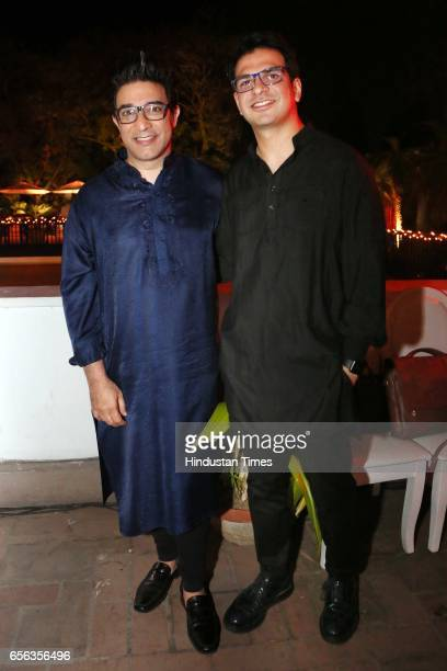 Designer Suneet Verma and Rahul Arora during a special show curated by designer duo Shantanu Nikhil for the travel platform Airbnb on March 19 in New...