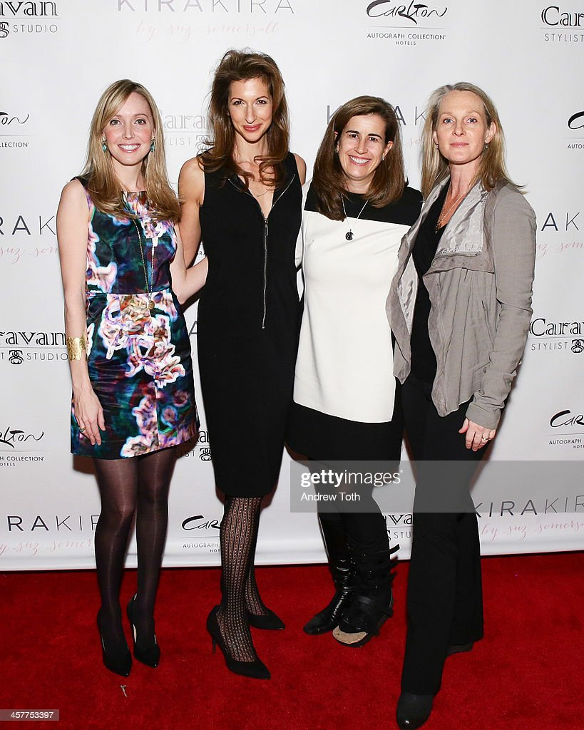 Designer Suz Somersall, actress Alysia Reiner, President of WPA Tina Daniels and author Piper Kerman attend the 'Orange Is The New Black - My Year In Women's Prison' charity book shopping experience at Carlton Hotel on December 18, 2013 in New York City.