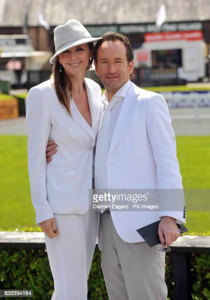 Designer Synan O'Mahony and Amanda Kelvin the Punchestown Racing Festival at Punchestown Racecourse Ireland